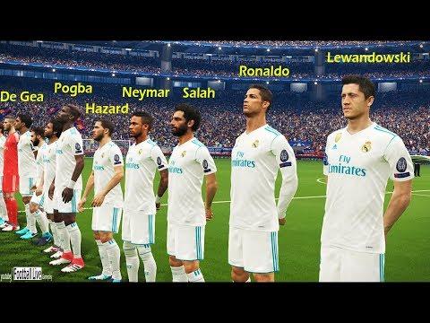 Neymar, Salah, Pogba, Hazard, Lewandowski, De Gea, going to Real Madrid? | FCB vs RM | PES 2018