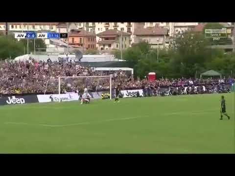 Cristiano Ronaldo debut goal for Juventus : Juventus A vs Juventus B – Villar Perosa, August 12 2018
