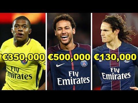 Paris Saint Germain ( PSG ) Players Salaries 2018 ( Weekly Wages )