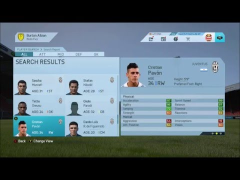 FIFA 16 Career Mode – Juventus in 2030 Squad (The end of career mode)