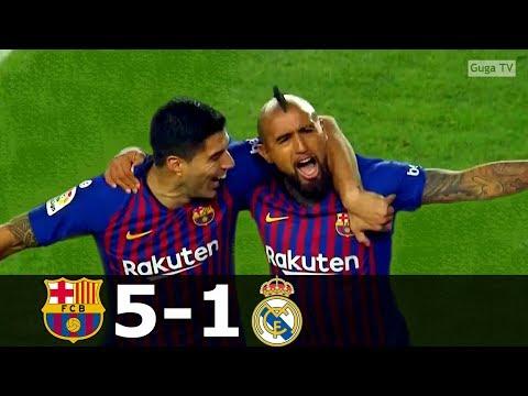Barcelona vs Real Madrid 5-1 – La Liga 2018/2019 – Highlights