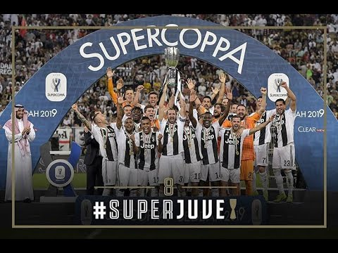 JUVENTUS TROPHY CEREMONY SUPER COPPA ITALIA 2019