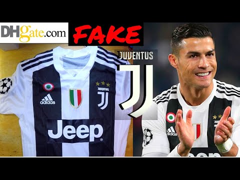 Fake Juventus Ronaldo 2018/19 Jersey unboxing⚽ Home kit Dhgate