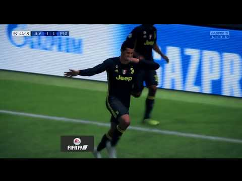 FIFA 19 JUVENTUS VS PSG CHAMPION LEAGUE GAMEPLAY | GAMESCOM 2018
