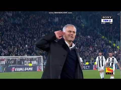 José Mourinho Offending Juventus 2018 Champions League