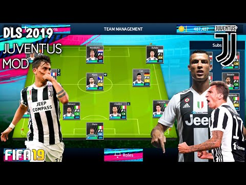 DLS 2019 Mod Juventus Kits & Squad Transfer 2018/2019 Android Offline •300 MB• Hd Graphics Download