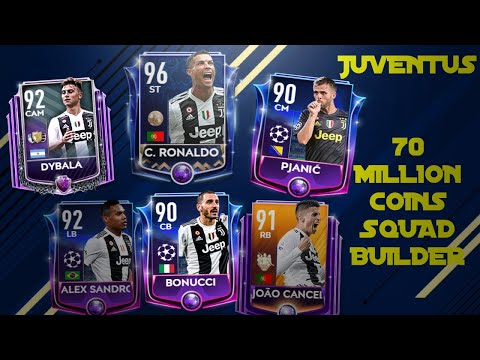 FIFA Mobile 19 JUVENTUS Squad Builder – 70 Million Coins  !! (Gameplay H2H)