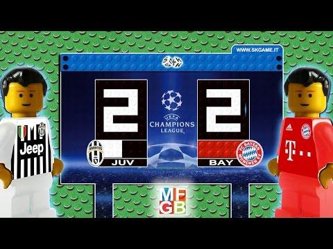 Juventus vs Bayern Munich 2-2 Lego Champions League ( Juve – Bayern München )  Lego Calcio