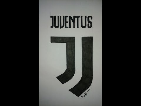 drawing logo juventus 2017رسم شعار يوفنتوس