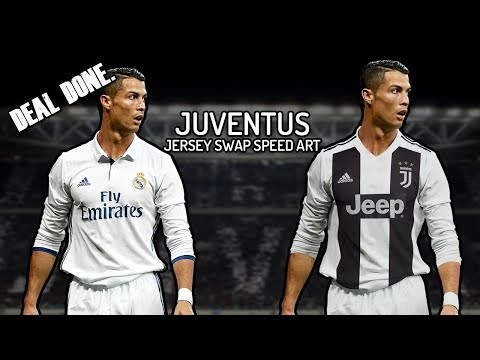 Cristiano Ronaldo signs for Juventus for( Jersey Swap Speed Art , GraphicsD )