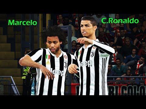 PES 2018 | MARCELO to follow C.RONALDO to Juventus ? | CR7 scored 4 goals | Milan vs Juventus