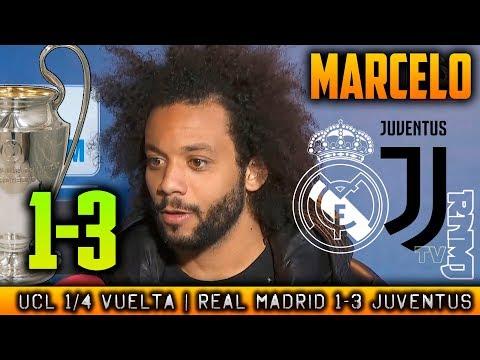 Real Madrid 1-3 Juventus declaraciones de MARCELO | Champions League (11/04/2018)