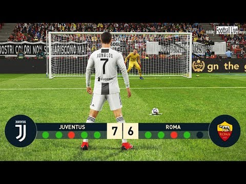 PES 2019 | Juventus FC vs AS Roma | Penalty Shootout | C.Ronaldo vs Roma | Gameplay PC