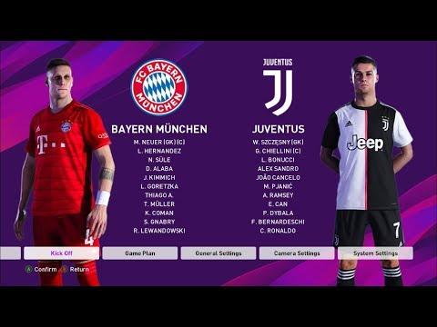 PES 2020 I BAYERN MUNCHEN vs JUVENTUS I Live Broadcast Camera