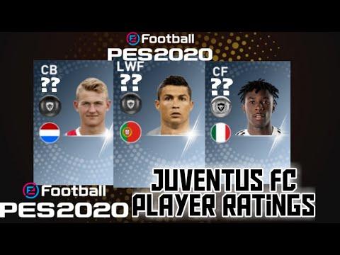 JUVENTUS FC (PM BLACK WHITE) PES 2020 Player Ratings Predictions🌟🔥. Ft. Ronaldo,Kean,Dybala etc😱