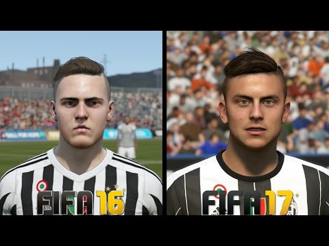 FIFA 17 vs FIFA 16 Juventus Faces Comparison