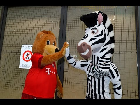 Le mascotte di Juventus e Bayern si incontrano – Fair play J, fair play Berni