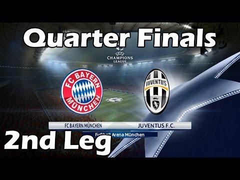 PES 2016 Champions League with Juventus | #10 Quarter-Finals Bayern Munich vs Juventus