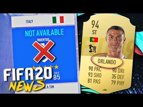 JUVENTUS ARE NOT IN FIFA 20