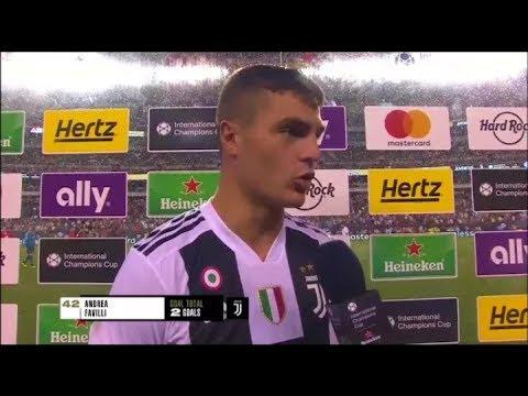 Interview Favilli setelah berhasil mencetak 2 goal Juventus Vs Bayern Munich • ICC 2018 • Sub indo