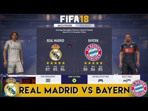 FIFA 18 | Real Madrid vs Bayern Munich | Full Match Gameplay (PS4/XBOX ONE) HD