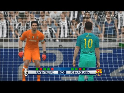Juventus vs Barcelona | UEFA Champions League | Penalty Shootout | PES 2017 Gameplay
