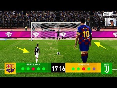 PES 2020 | GIANT players Barcelona vs TINY players Juventus | Penalty Shootout | Messi vs Ronaldo