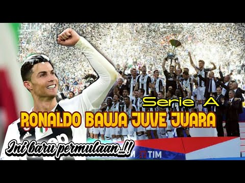Ronaldo Bawa Juventus Juara Liga Italia / Scudetto Serie A 2018/2019