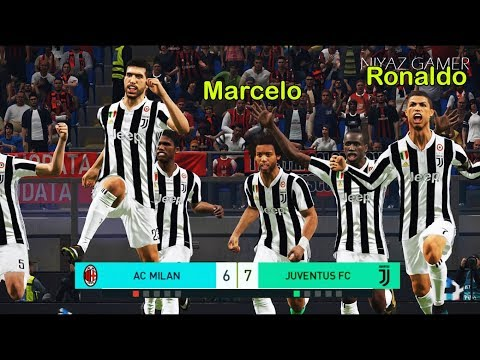 Marcelo & Ronaldo to Juventus ? | Penalty Shootout | AC Milan vs Juventus | PES 2018 Gameplay PC