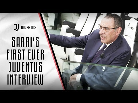 Maurizio Sarri's first ever Juventus interview