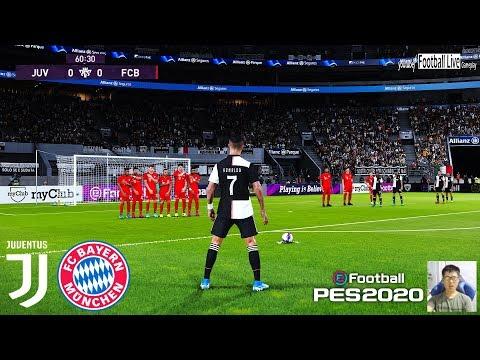 PES 2020 | Juventus vs Bayern Munich | C.Ronaldo Free Kick Goal | Gameplay PC
