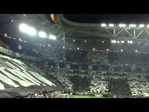 Juventus vs Bayern Munich formation, anthem and choreography