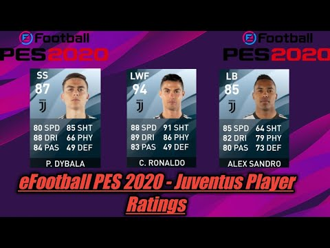 eFootball PES 2020 – Juventus Player Ratings