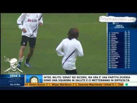 """Verso Lazio Juventus Vinovo News VI  Pirlo """" Non è un risentimento Muscolare """"  24 /11/2011 ."""