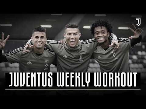 Cristiano Ronaldo, Cuadrado & Cancelo celebrate in shooting challenge | Juventus Weekly Workout