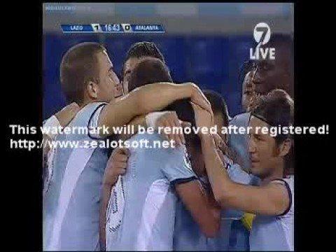 lazio 2 0 Atlanta Coppa Italia  1.10.2008 first goal