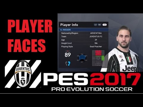 JUVENTUS PLAYER FACES / PES 2017