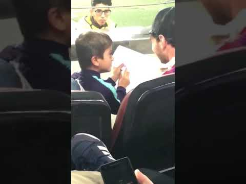 Lionel Messi's son Caught Drawining Juventus Logo and then showing his dad! – Must See!