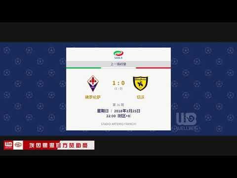 Italy Serie A   W2   Fiorentina vs Chievo   H2H