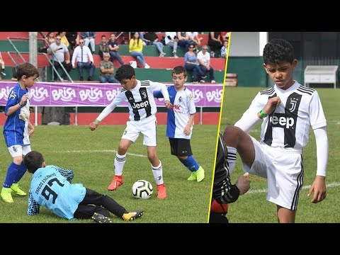 Cristiano Ronaldo Jr 🎥 Juventus U9 Destroying Players