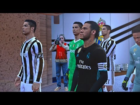 PES 2017 – TEAM NEYMAR vs TEAM RONALDO – Real Madrid vs Juventus Gameplay PC
