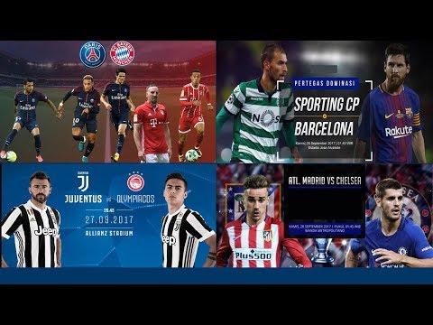 PSG vs Bayern + Sporting vs Barcelona + Juventus vs Olympiacos + Atlético vs Chelsea 27.9.17
