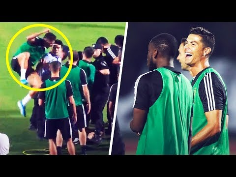 Ronaldo jumped on a police officer when a fan invaded a Juventus training session – Oh My Goal