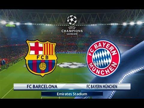 PES 2018 | Barcelona vs Bayern Munchen | UEFA Champions League | Gameplay PC