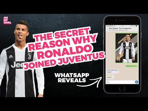 This WhatsApp chat reveals the secret reason why Ronaldo joined Juventus