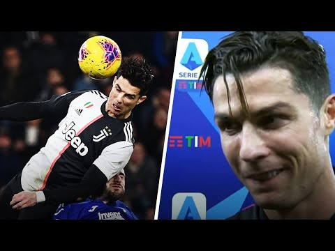 Cristiano Ronaldo's reaction when he found out how high he jumped against Sampdoria | Oh My Goal