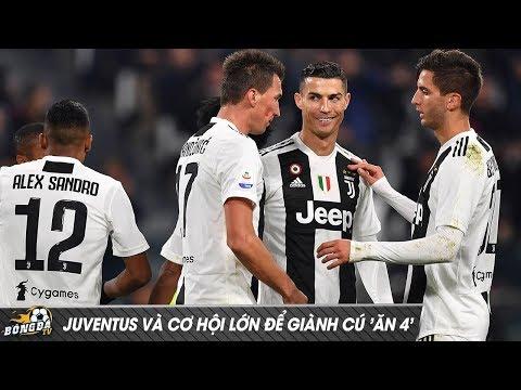 """Ronaldo & Juventus: Cơ hội lớn để dành cú """"Ăn Bốn"""" mùa giải 2018/2019"""