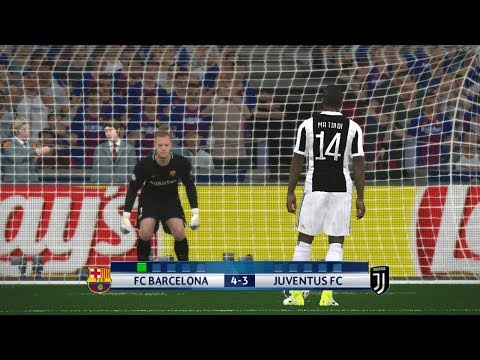 Barcelona vs Juventus I Uefa Champions League 2017/18 I Penalty Shootout