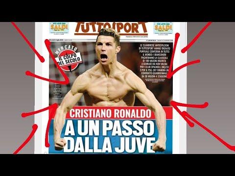 """""""CRISTIANO RONALDO AD UN PASSO DALLA JUVENTUS"""" TITOLONE DI TUTTOSPORT [Cristiano-Juventus news]"""