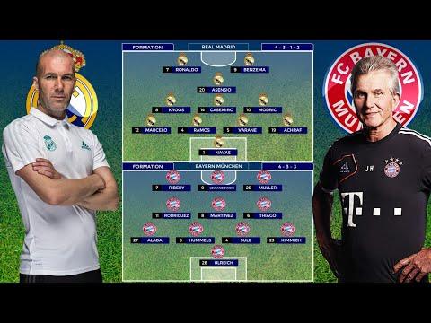 PREDICTED LINE UP REAL MADRID VS BAYERN MUNCHEN l UEFA CHAMPIONS LEAGUE 2018